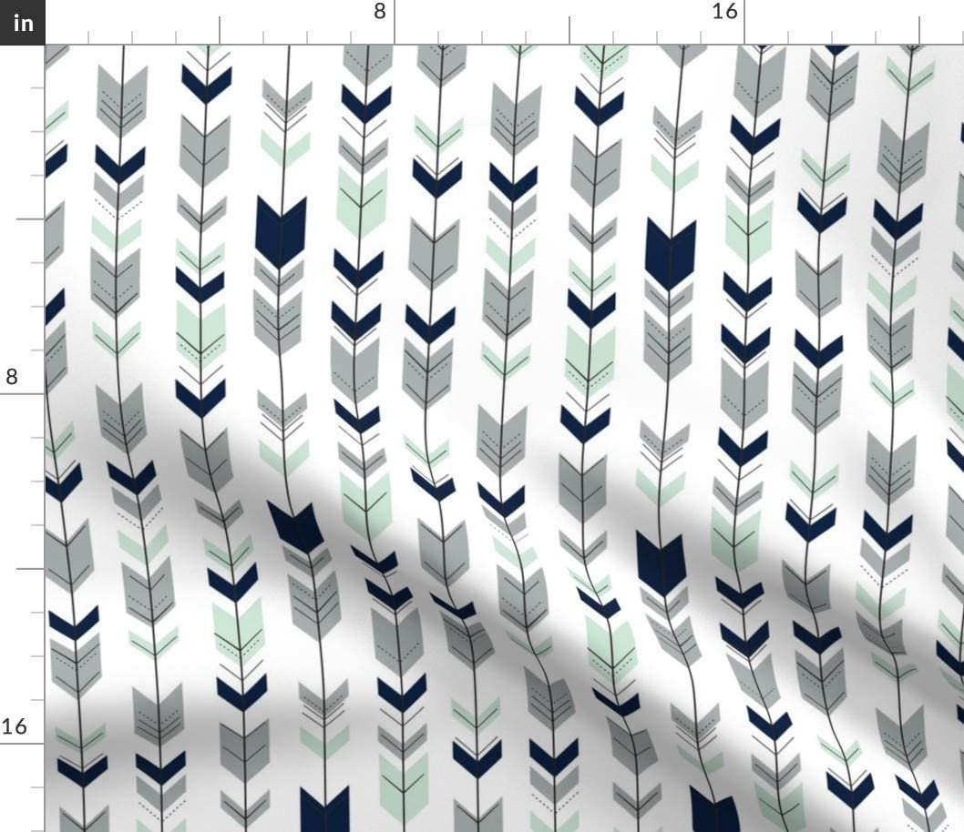 Spoonflower New arrival Popular standard Fabric - Fletching Arrows Northern Scale Light Small