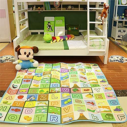 COROID Play mat Baby Mats Waterproof Kids Crawl Extra Large Size Crawling Double Side Non-Slip Reversible Water Resistant Portable Outdoor/Picnic/Beach/Travel 6 x 5 Feet(Size:180 x 150 cm)