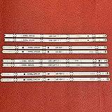 Juego de 8 tiras de retroiluminación LED para LG 49UH6500 49UH650V 49UH661V 49UH668V LC490DGG FJ M6 M5 6916L-2452A 2453A 6916L-2551A 2552A 2552A