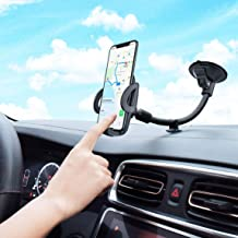 Car Phone Holder, Mpow Windscreen Car Phone Mount with Extra Dashboard Base and Long Flexible Arm Car Cradle for iPhone 11 Pro Max 11 Pro Xs Max Xs Xr X 8 7 Plus Samsung S10 S9 HTC Sony LG and More