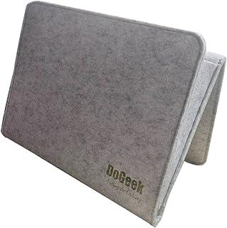 DoGeek Bettablage zum Einhängen, Betttaschen Hängeaufbewahrung für Mobiltelefon, Fernbedienung, Wasserflasche, Zeitschriften – Bett-Organizer für das Schlafzimmer (hellgrau)