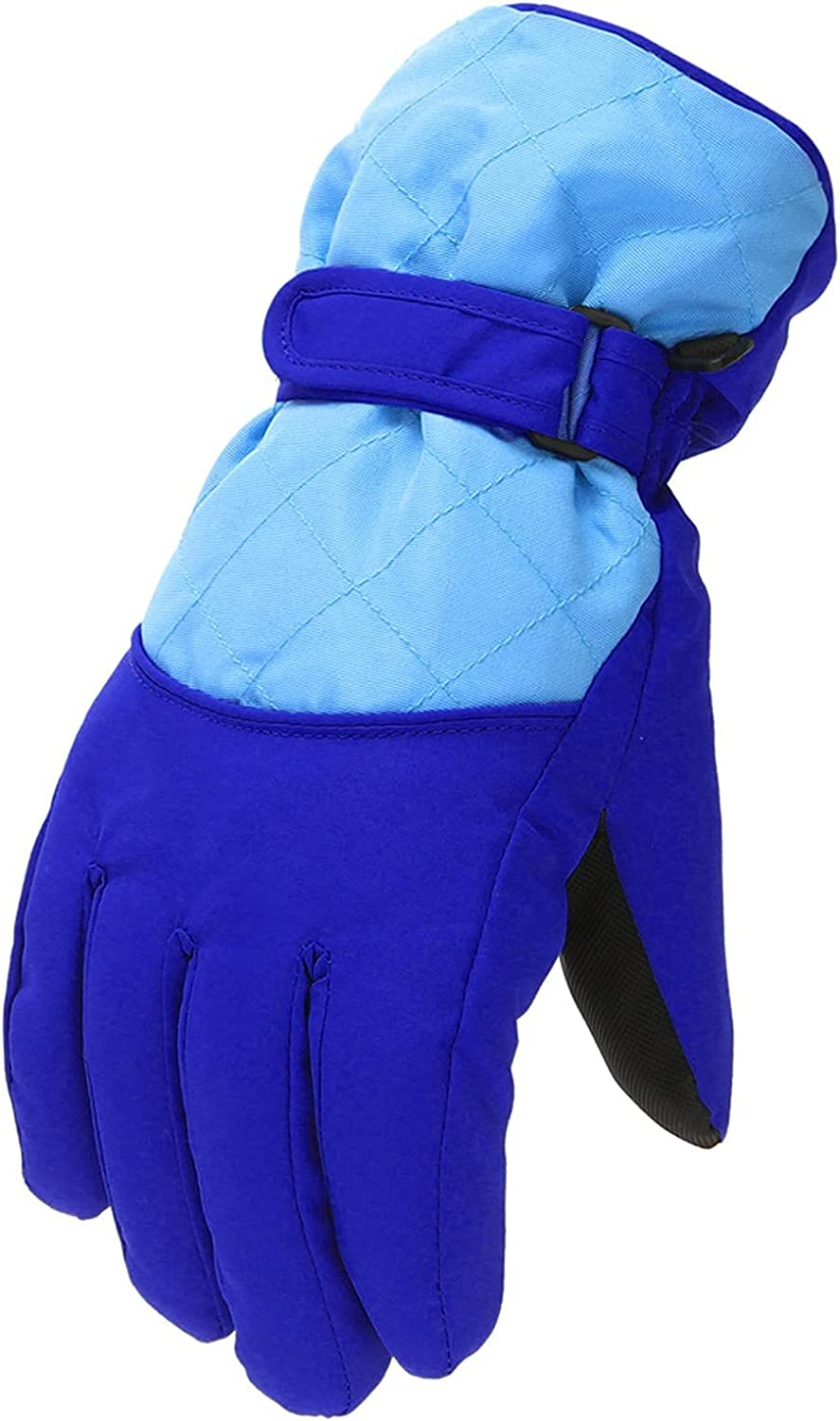 Winter Gloves Thinsulate Insulated Waterproof Ski Thermal Gloves Snowboard Driving Fleece Snow Gloves Cold Weather Gloves Age 6-11 Years for Kids