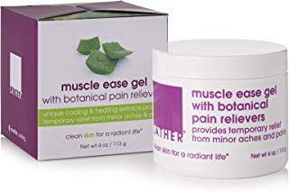 LATHER Muscle Ease Pain Relief Gel with Botanical Pain Relievers 4 oz