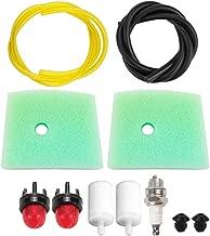 Dalom 123C 123L Air Filter w Primer Bulb Fuel Line for Husqvarna Trimmer 123LD 223L 223R 322C 322L 322R 323C 323L 323LD 323R 325C 325CX 325L 325LX 326C 326L 326LX Brushcutter/Pole Saw/Edger
