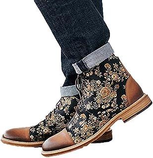 Mrs. Li's shop The Jack Boot in Eden Bottines tendance à lacets pour homme Style rétro britannique Fait à la main Cuir sou...
