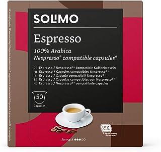 Marca Amazon - Solimo Cápsulas Espresso, compatibles con