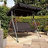 Kingfisher 2-Sitzer Hollywoodschaukel mit Dach (Einheitsgröße) (Schwarz) - 9