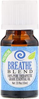 Breathe Essential Oil (Organic, 10ml) 100% Pure, Best Therapeutic Grade - (Peppermint, Rosemary, Lemon & Eucalyptus Blend - Comparable to Doterra Breathe, Young Living Raven, Eden's Exhale, Inhale, Respiratory and Sinus Relief - Breathe Easy / Easier)