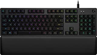 Logitech G513 Gaming Keyboard Mechanical RGB Backlit with Clicky Switches (UK Layout) - Carbon