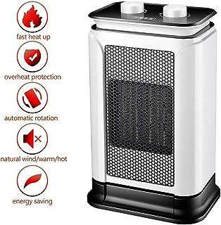 LTLJX Calefactor Cerámico Calentador de Ventilador Eléctrico Calefacción Termostato Regulable 1500W con Oscilación Protección contra Sobrecalentamiento y Volcado para Hogar y Oficina