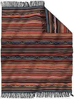 Pendleton Chimayo Wool Throw Size Blanket, Adobe Stripe