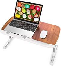 Laptop Table for Bed, TaoTronics Foldable Lap Desks, Bed Desk Height Adjustable, Portable Bed Tray Table for Couch and Sof...