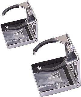 M-ARINE BABY Stainless Steel Adjustable Folding Cup Drink Holders Marine/Boat/Caravan/car