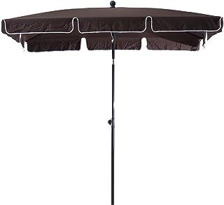 Outsunny Sombrilla Cuadrada Grande Parasol con Ángulo