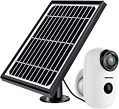 $99 » Solar Powered Wireless Indoor/Outdoor Camera, Rechargeable Battery Powered Home Security System, Night Vision, 1080P HD Video with Motion Detection, 2-Way Audio Talk WiFi Camera, IP65 Waterproof