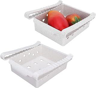 HAOX Organisateurs de réfrigérateur, bacs de Rangement de réfrigérateur de Type tiroir pour armoires de comptoir pour Cuis...