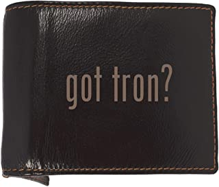 got tron? - Soft Cowhide Genuine Engraved Bifold Leather Wallet