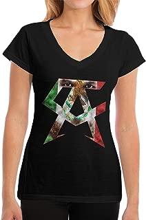 Women's Casual Canelo Alvarez Tee Shirt Short Sleeve V-Neck Cotton T-Shirt Sports Tops for Teens Plus Size Tshirts