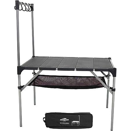 Soomloom 折り畳み式テーブル アルミ製 アウトドア用 キャンプ用 超軽量材質 無限拡大可能 エクササイズ 収納ケース付き