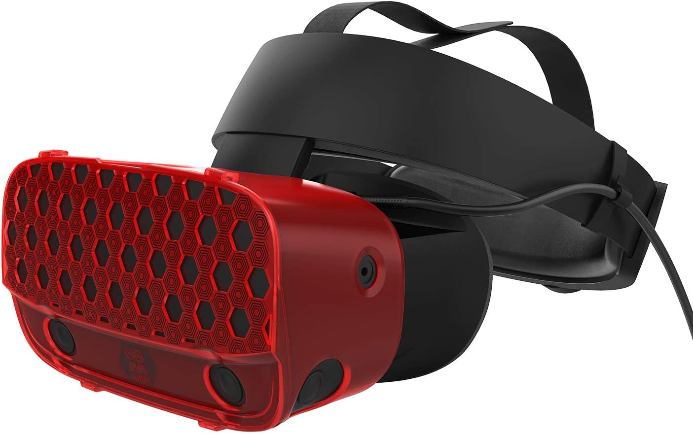 AMVR VR Headset Protective Shell, Light & Durable Cover for Oculus Rift S Accessories, Preventing Collisions and Scratches (Red)