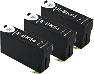EPSON エプソン ICBK84 黒 (BK) x3個 大容量 黒3本セット 虫めがねマーク 残量表示可能ICチップ付 互換インクカートリッジ 最優良品質【ハニハニ製 1年サポート】