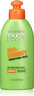 Garnier Fructis Style Anti-Humidity Smoothing Milk, All Hair Types, Sleek , 5.1 oz. (Packaging May Vary)