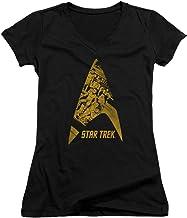 Star Trek The Original TV Series Bridge Crew Knockout Comic Jrs V-Neck T-Shirt