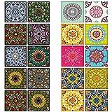 20 Piezas de Pegatinas de Azulejos Vintage, Pegatinas de Azulejos de Cocina, para Escaleras, Cocina,...