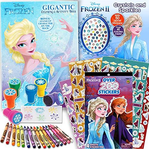 Disney Frozen and Frozen 2 Coloring Book Activity Set