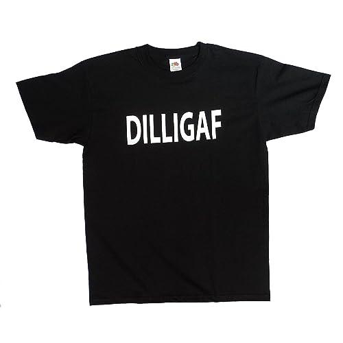 a2fd9093d CottonJuice Designs DILLIGAF Funny Rude Men's t Shirt (Do I Look Like I  Give A
