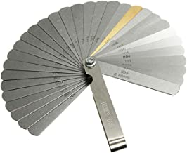 Acarte 32 Set Blades Steel Feeler Gauge Dual Marked Metric and Imperial Gap Measuring Tool Teaching Feeler