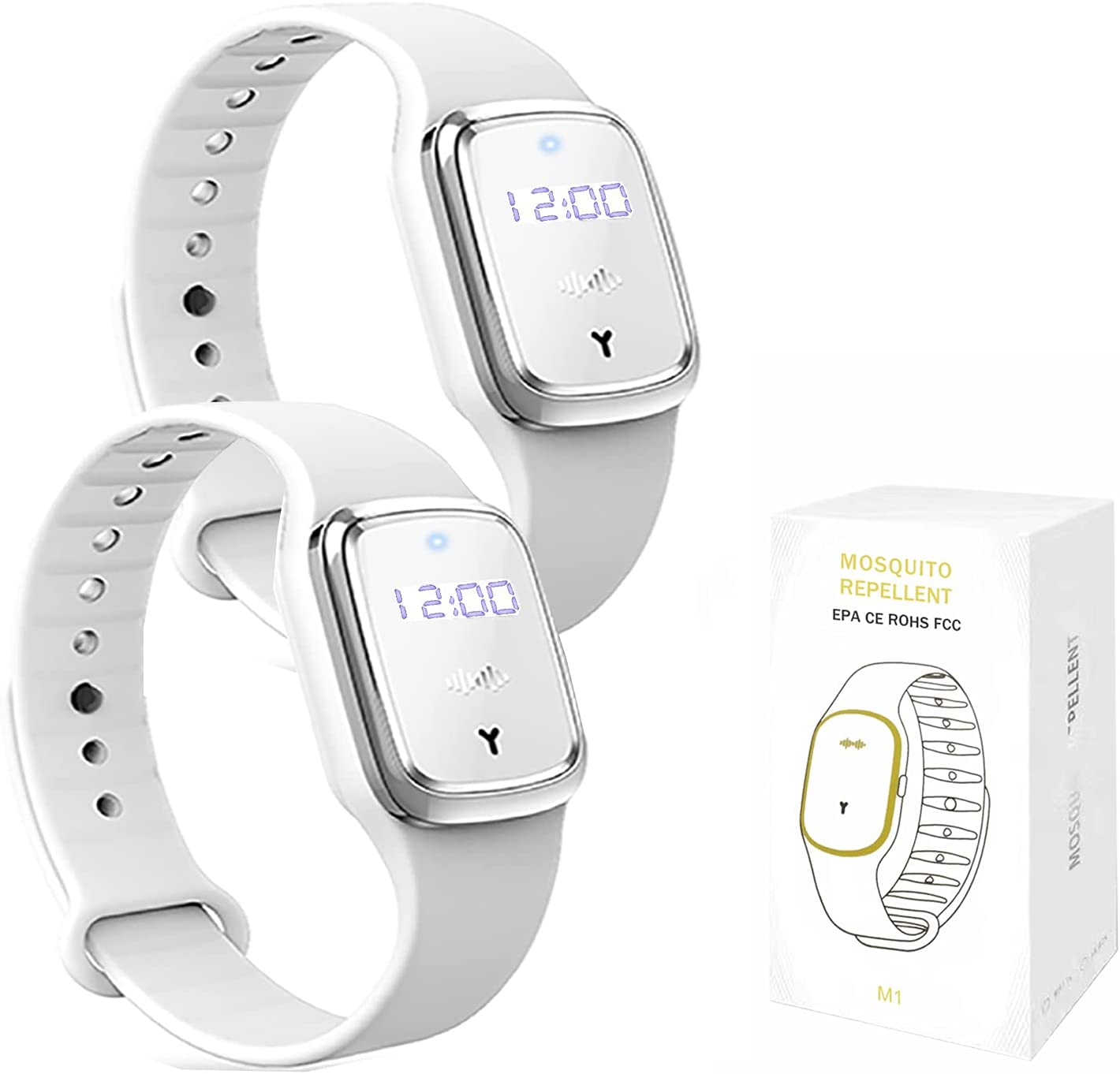QU.SBEARY Ultrasonic free shipping Long Beach Mall Mosquito Repellent Bracelet Elec with Watch