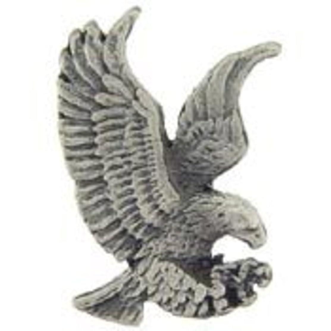 EagleEmblems P00727 Pin-Eagle,Pewter (1'')