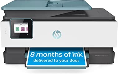 HP OfficeJet Pro 8035 All-in-One Wireless Printer - Includes 8 Months of Ink, HP Instant Ink, Works with Alexa - Oasis (3UC66