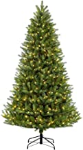 Puleo International 9 Foot Pre-Lit Glacier Fir Artificial Christmas Tree with 1000 UL Listed Clear Lights, Green