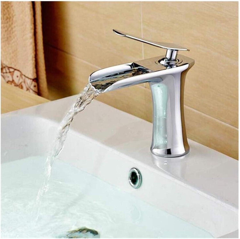 Kitchen Bath Basin Sink Bathroom Taps Washbasin Mixer Waterfall Sink Taps Cold and Hot Mixer Ctzl2432