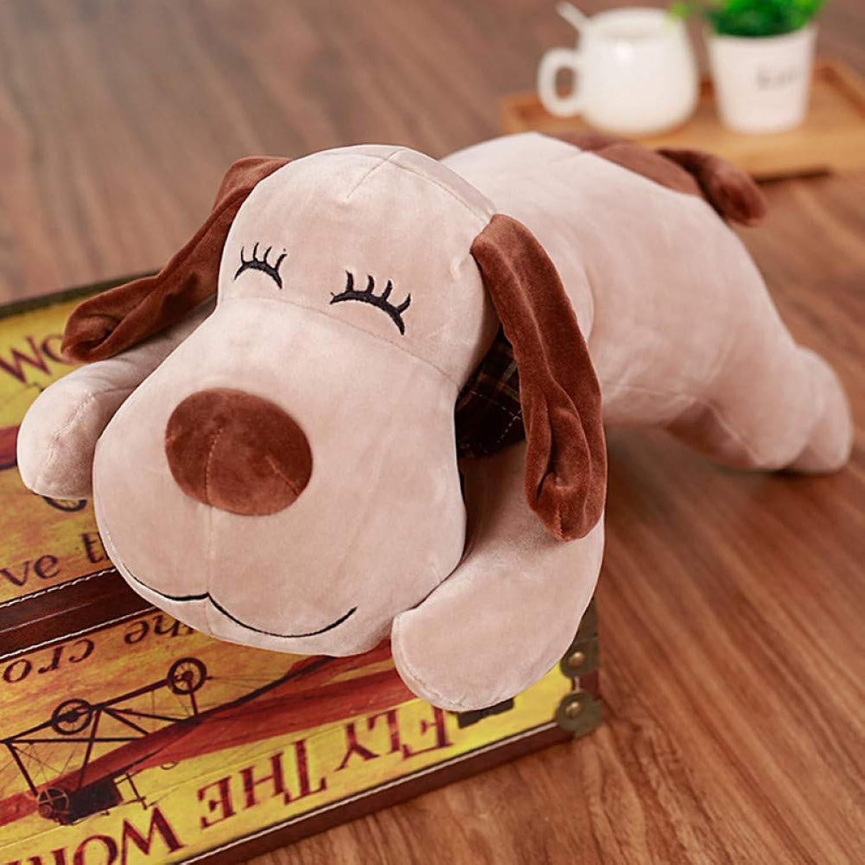 LAIBAERDAN Weiche Freche Hynenplüschspielzeughundepuppenpuppe Puppe Nettes Schlafkissen Valentinstaggeschenk
