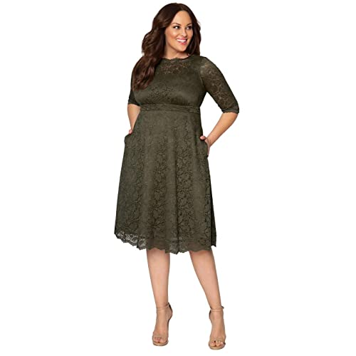 09d91e61097 Kiyonna Women s Plus Size Lacey Cocktail Dress Mauve Blush