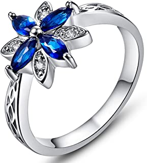 sapphire puzzle ring