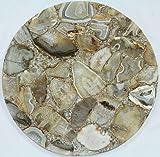 Rajasthan Gems handgefertigt Semi Precious gelb Achat Stein rund Couchtisch Top Home Dekorative