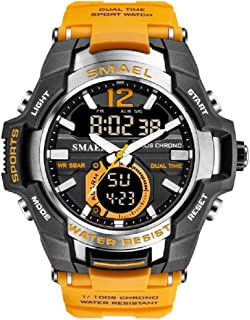 KXAITO Men's Sports Outdoor Waterproof Military Watch Date Multi Function Military LED Alarm Stopwatch