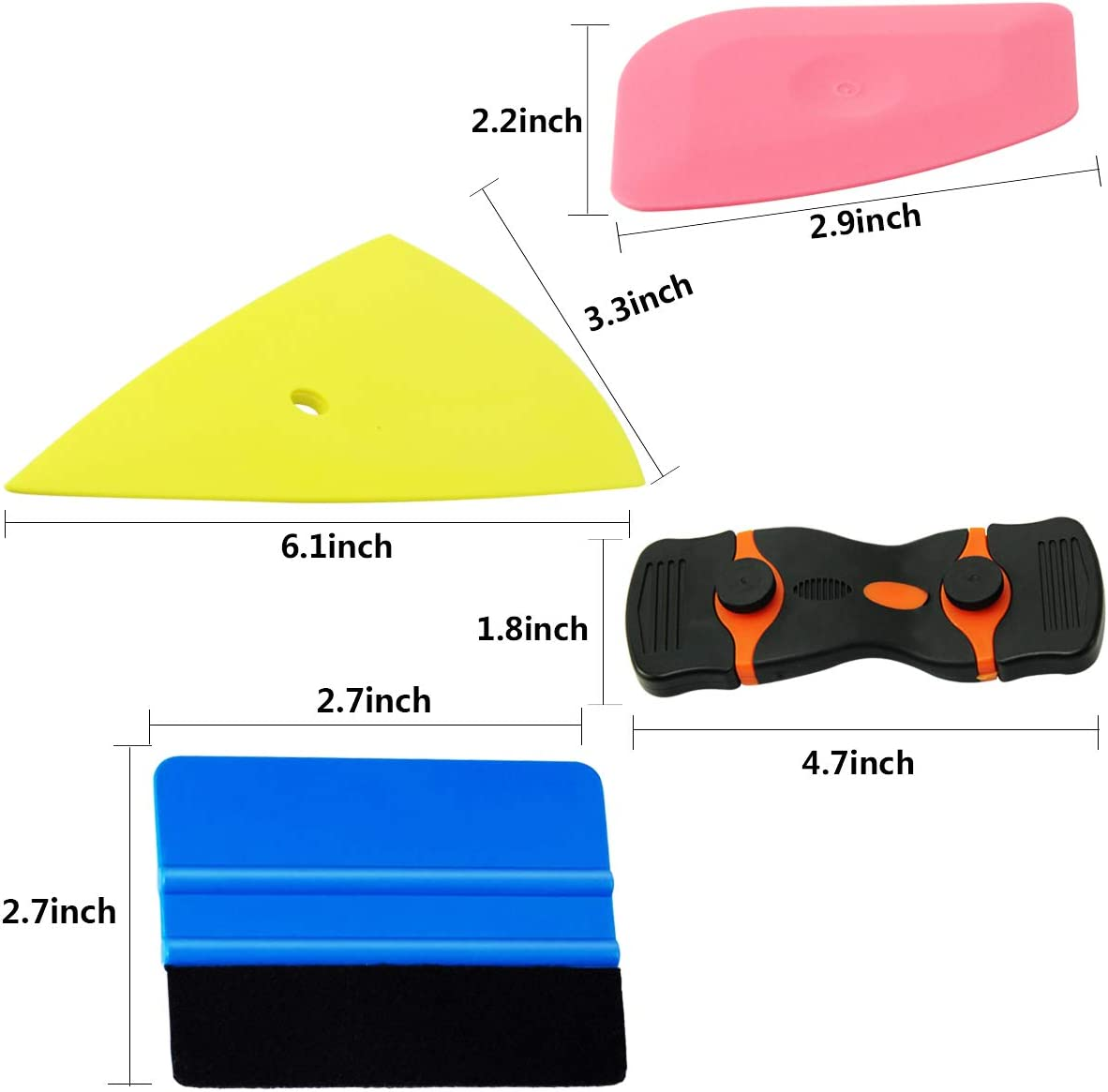 8 Pcs Vehicle Glass Protective Film Installing Tool Car Window Film Squeegee Automotive Film Scrapers Window Tint Tools YXGOOD Car Window Tint Application Tools Kit 8
