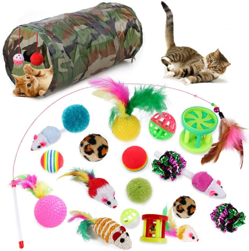 Cat Louisville-Jefferson County Mall Toy Tunnel Teaser Pet Tube Save money Crinkle Bored Fo Feather Wand Bed