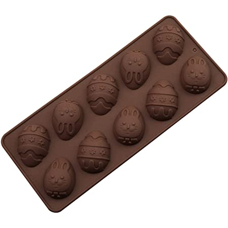 1 PC Silicone Bunny Egg Mould Easter Candy Cookie Mould Rabbit Egg Mould Silicone Cake Pastry Moulds Handmade Soap Mold Egg Chocolate Mold Rabbit Baking Mold for Easter Jelly Ice Cube Cake Decorating