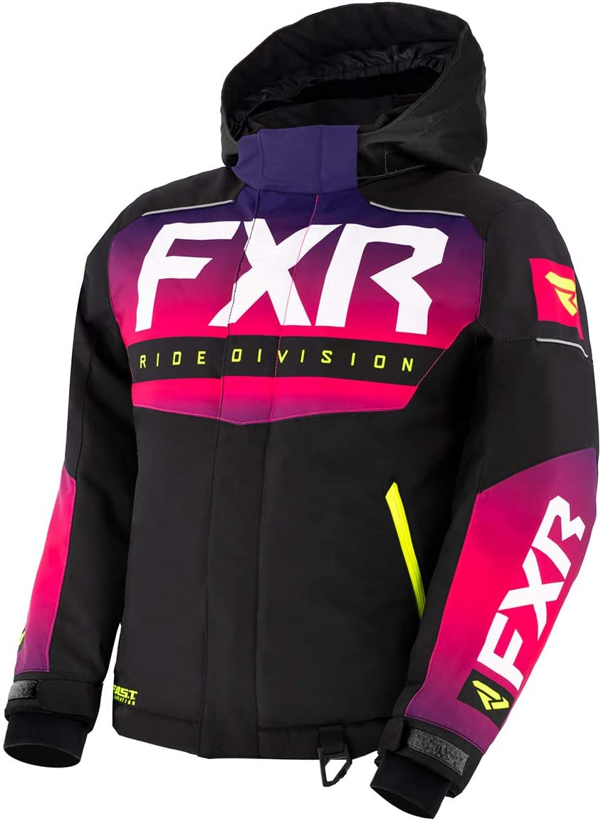 FXR Youth Helium Jacket 2021 Fuchsia Fade//Black//Hi-Vis - 16