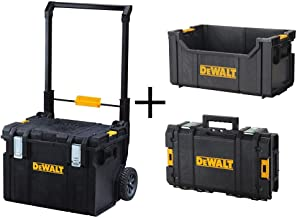 DEWALT ToughSystem DS450 22 in. 17 Gal. Mobile Tool Box, DS280 Tote Tool Box and DS130 Tool Box Combo Set (3 Components)