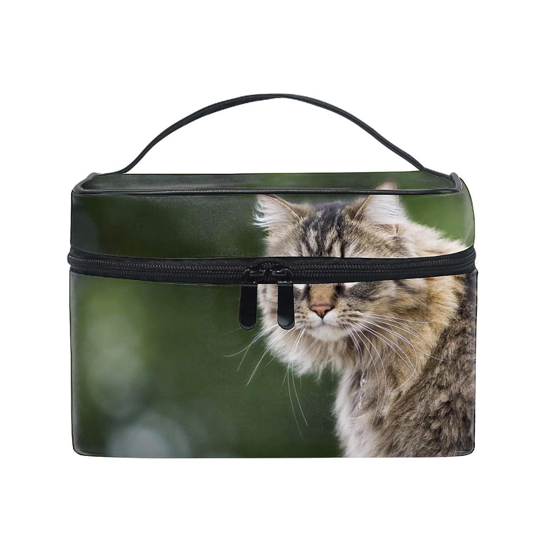 ベックスメナジェリー切り刻む猫の顔ふわふわグレアトイレタリーバッグ 収納ケース メイク収納 小物入れ 仕分け収納 防水 大容量 出張 旅行用