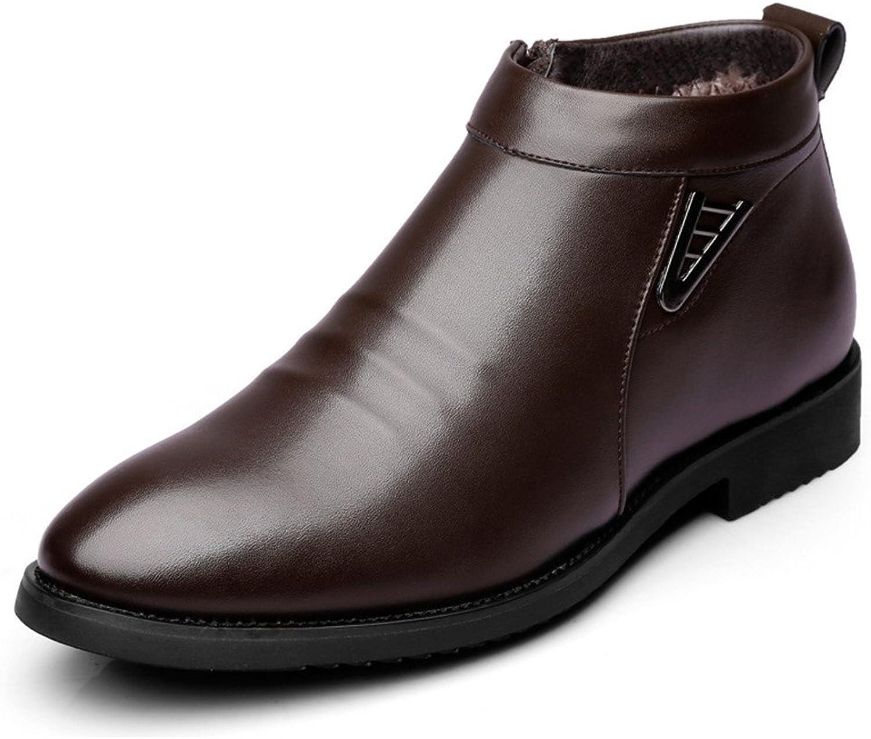Home Nett Herbst Winter Herren Stiefel Kurze Stiefel Leder Martin Stiefel England Männer High-top Schuhe Chelsea Stiefel Männer Eine Hohe Bewunderung Gewinnen