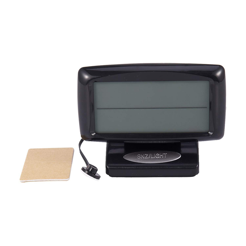 Comyglog Termómetro LED para coche, reloj electrónico con luz nocturna, indicador de temperatura para el interior del coche