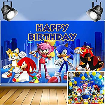 Amazon Com Sonic Hedgehog Themed Photo Background Baby Shower Photo Booth Studio Props Supplies Vinyl Scenery Mountain Cartoon Photography Backdrop Boys Girls Birthday Party Banner 5x3ft Decoration Camera Photo